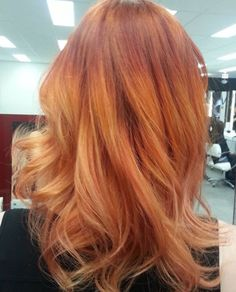 Wow! Copper ombré hair color