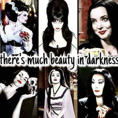 beauty, Bride of Frankenstein, and Morticia Addams image