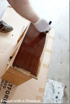 How to Strip (Un-Stain) & then Re-Stain/Refurbish Your Wood Furniture---This is a Have to Try!!!