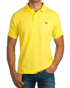 Polos Lacoste ® Amarillo | ENVIO GRATIS Lacoste Polo Shirts, Lacoste Sport, Lacoste Men, Golf Polo Shirts, Camisa Polo, Polo Shirt Outfits, Mens Cotton Shorts, Men Dress, Shirt Designs