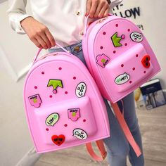 Jelly Bags Sweet Cartoon Children's Backpack Ladies Fashion Bag (S/M/L)