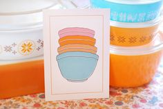Pyrex Illustrations from Erinink - I want all of them :)