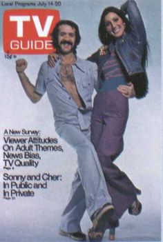 Sonny And Cher  - TV Guide Cover .