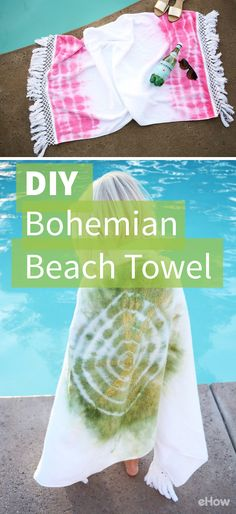This DIY bohemian beach / pool towel is easy and stylish! Plus it's inexpensive to make! http://www.ehow.com/how_12343416_diy-bohemian-beach-towel.html?utm_source=pinterest.com&utm_medium=referral&utm_content=freestyle&utm_campaign=fanpage