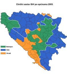 Ethnic division of Bosnia and Herzegovina from 2005
