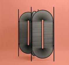 "Minima Moralia: ""Christophe de la Fontaine, room divider, module 80 x 180 cm, powder-coated steel in. Partition Screen, Room Divider Screen, Milan Furniture, Furniture Design, Plywood Furniture, Chair Design, Modern Furniture, Space Dividers, Decorative Screens"