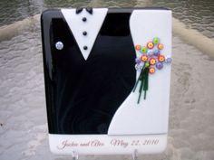 Fused glass customized wedding or by CrazyEyeFusedGlass