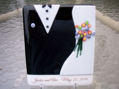 Fused glass customized wedding or by CrazyEyeFusedGlass