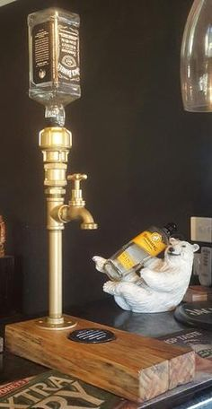 Ozzi Tap Spirit Dispenser (hand made with brass tap and fittings)