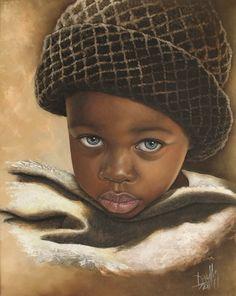 Niño de África 53 Óleo sobre Lienzo