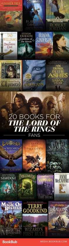 A giant list of epic fantasy books to read if you love Lord of the Rings.