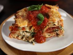 Get Spinach Lasagna Recipe from Food Network
