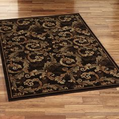 Acanthus Scroll Rectangle Rug Sable
