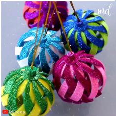 Christmas Craft Projects, Christmas Ornament Crafts, Holiday Crafts, Christmas Crafts, Christmas Decorations, Diy Ornaments, Diy Projects, Diy Crafts For Gifts, Creative Crafts
