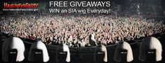 "SIA FANS! We're Bringing You ""Cheap Thrills"" By Giving Away FREE SIA WIG'S!  IT'S EASY TO WIN Register at HalloweenPartyOnline.com  WINNERS Picked During EVERY SIA Concert Tour Date!"