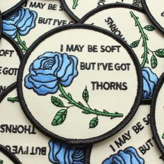 'I May Be Soft But I've Got Thorns' Patch by Tender Ghost