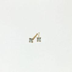 diamond pierced earring