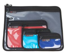 Clear Organizer Pouches at Tom Bihn  I think i have to do some by myself for my quilting projects!