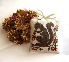 Completed cross stitch ornament primitive decor by ReginaStitchery