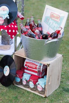 Drinks + Favor Jars from a Retro Diner Themed Mother's Day Party via Kara's Party Ideas | KarasPartyIdeas.com - The Place for All Things Party! (10)