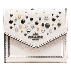 Coach Crossgrain Leather Star Rivets Small Purse f0b5bee5d8ef2