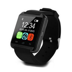 Smart Bluetooth Watch MTK Wristwatch Watches U8 U Watch for Smartphones (Black). Item Type: Wristwatches Case Material: Alloy Dial Window Material Type: Hardlex Dial Material Type: Acrylic. Movement: Digital Band With: 20mm to 29mm Dial Diameter: 1.45 inch Band Width: 20mm u8 smart watch. Clasp Type: smartwatch Boxes & Cases Material: Paper Gender: Men Style: Fashion & Casual Condition: New without tags. Feature: Auto Date,Repeater,Perpetual Calendar,Alarm,Chronograph,Water...
