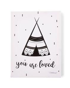 Öl-Bild YOU ARE LOVED (30x40) in schwarz/weiß