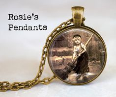 """Les Miserables """"Cosette"""" Handcrafted Pendant Necklace or Key Ring - Literary Jewelry - Jean Valjean- Victor Hugo on Etsy, $14.50"""