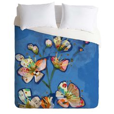 Land Of Lulu Apple Blossoms 1 Duvet Cover   DENY Designs Home Accessories
