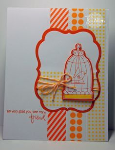 Stamps used: Birdie on a Swing – Designed by Jeni Allen