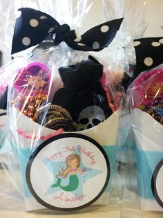 Mermaid theme birthday party favors -