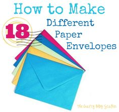 How to Make Paper Envelopes - 18 Tutorials www.thecraftyblogstalker.com