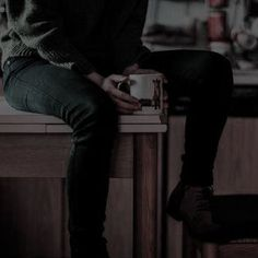 """(Introducing Michael) Michael made Thomas a cup of Coffee once they entered the apartment. He used his favorite cup to make it, which made Thomas chuckle."""" You're so childish."""" He said, taking a sip of coffee."""" How am I gonna get my books to your place? Wattpad, Twilight, The Ancient Magus Bride, Character Aesthetic, Aesthetic Photo, Character Inspiration, Angeles, Infp, Poses"""