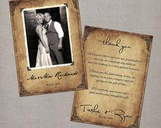 "Items similar to Vintage Wedding Thank You Cards / Wedding thank yous / Wedding Thank You Cards / Thank you Cards / Thank you postcard - the ""Tasha"" on Etsy Thank You Card Wording, Thank U Cards, Thank You Postcards, Wedding Thank You Cards, Gatsby Wedding, Graduation Invitations, Destination Wedding, Stationery, Creative"