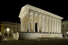 Maison Carrée, Nîmes, France - Roman period 16 BC