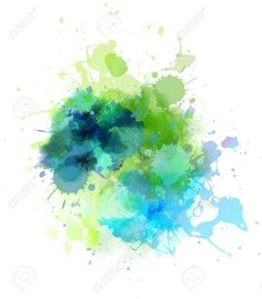Multicolored watercolor splash blot Stock Vector - 28500687 Watercolors, Vector Art, Photo Editing, Clip Art, Stock Photos, Illustration, Creative, Projects, Inspiration