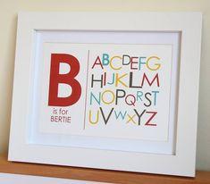 Personalised Alphabet Print from notonthehighstreet.com