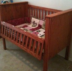 cribs with drop gates make life so much easier!