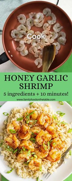 Quick Recipes For Dinner, Shrimp Dinner Recipes, Quick Shrimp Recipes, Quick Easy Dinner, Seafood Recipes, Savoury Recipes, Gf Recipes, Lunch Recipes, Recipes