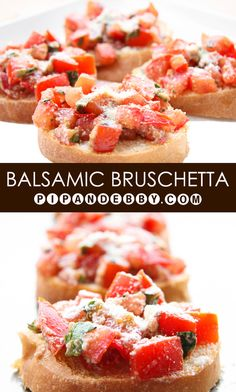 Balsamic Bruschetta | This is the PERFECT appetizer and can be served warm or cold! #appetizers #fingerfoods