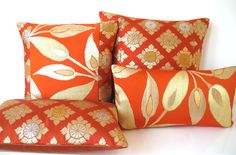 Cushion Pillow in Limited Edition Orange & by BeccaCadburyDesign