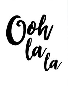 """Printable Art French Quote """"Ooh la la"""" Typography Art Inspirational Quote Wall…"""