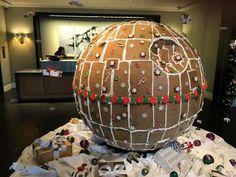 A fully operational gingerbread DeathStar
