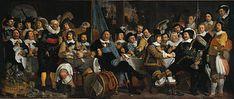 Banquetto della Guardia Civica di Amsterdam in celebrazione della Pace di Münster, dipinto nel 1648, in mostra al Rijksmuseum.