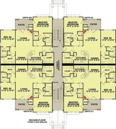 Apartment Building Architectural Plans plan 83117dc: 3 story 12 unit apartment building | apartments
