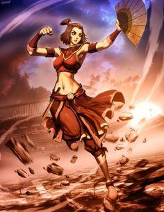 Avatar Suki - Fire nation by GENZOMAN.deviantart.com