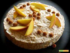 Semifreddo alle pesche e amaretti  #ricette #food #recipes