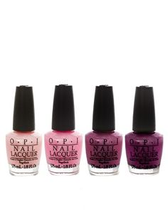 We also carry some OPI to choose from when selecting your polish color.