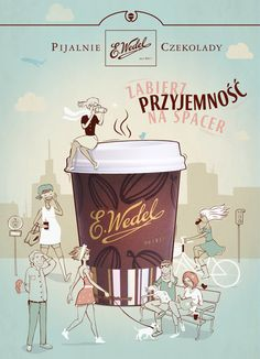 Wedel's chocolate lounges / selected works by luiza kwiatkowska, via Behance List Of Careers, Polish Recipes, Historical Images, Lounges, Graphic Design Inspiration, Art And Architecture, Typography Design, Poland, Behance