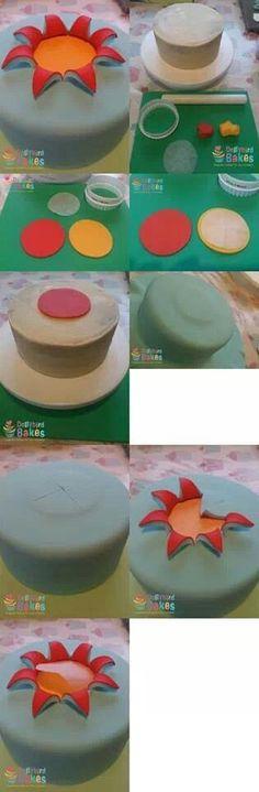 how to burst cake